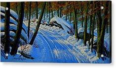 A Road Still Traveled Acrylic Print by Frank Wilson