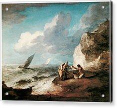 A Rocky Coastal Scene Acrylic Print by Thomas Gainsborough