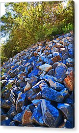 Acrylic Print featuring the photograph A Rocky Hill by Naomi Burgess