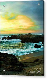 A Rocky Sunset Acrylic Print by Polly Peacock