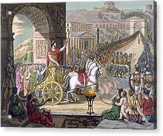 A Roman Triumph, Illustration Acrylic Print by Jacques Grasset de Saint-Sauveur