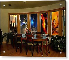 A Room With Scenic Views Acrylic Print by Mario Carini