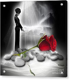 A Rose For Whitney - Fantasy Art By Giada Rossi Acrylic Print