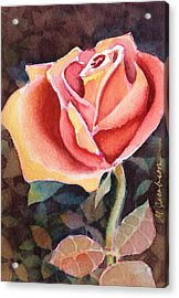 A Rose For You Acrylic Print by Marilyn Jacobson