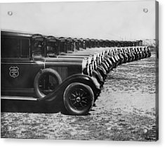 A Row Of Graham Automobiles Acrylic Print by Underwood Archives