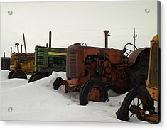 A Row Of Relics Acrylic Print by Jeff Swan