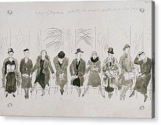 A Row Of Senior Women Acrylic Print