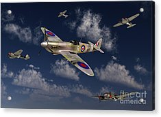 A Royal Air Force Supermarine Spitfire Acrylic Print by Stocktrek Images