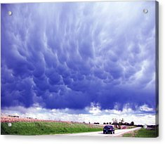 Acrylic Print featuring the photograph A Rural Nebraska Highway And Magnificent Sky by Tyler Robbins