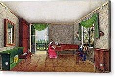 A Russian Interior Acrylic Print by Micheline Blenarska