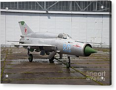 A Russian Mig-21smt Fighter Plane Acrylic Print by Timm Ziegenthaler