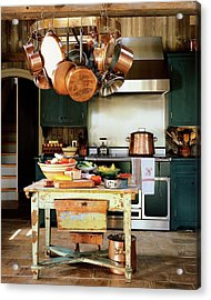 A Rustic Kitchen Acrylic Print