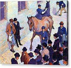 A Sale At Tattersalls, 1911 Acrylic Print by Robert Polhill Bevan