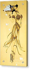 A Saucy Salome Acrylic Print by Pg Reproductions