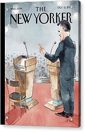 A Scene From The Presidential Debate Acrylic Print by Barry Blitt