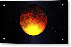 A Scorched World Kepler-10b  Acrylic Print by Movie Poster Prints