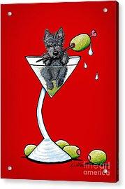 A Scottish Martini Acrylic Print by Kim Niles
