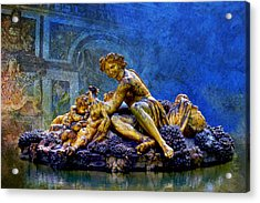 A Sculpture From Park Of Versailles Acrylic Print by Catf