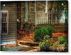 A Seat In The Shade Acrylic Print by Lois Bryan