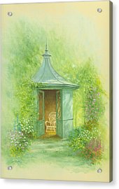 A Seat In The Summerhouse Acrylic Print by Garry Walton