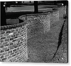 A Serpentine Brick Wall Acrylic Print by William and Neill Dingledine
