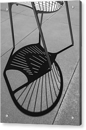Acrylic Print featuring the photograph A Shadow Cast - Abstract by Steven Milner