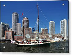 A Ship In Boston Harbor Acrylic Print