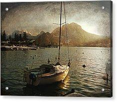 A Ship In Port Acrylic Print by Barbara Orenya