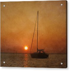 A Ship In The Night Acrylic Print