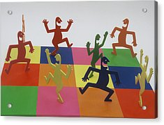 A Shortcut To Happiness - Dancing Acrylic Print by Peter Michel
