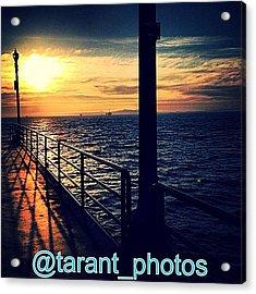 A Shot On The Huntington Pier Acrylic Print