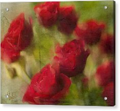 A Shower Of Roses Acrylic Print