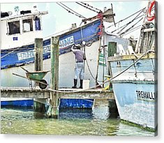 A Shrimper's Work Is Never Done Acrylic Print