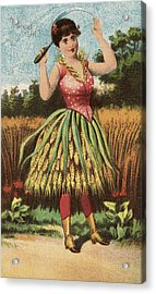 A Shweat Girl Acrylic Print by Aged Pixel