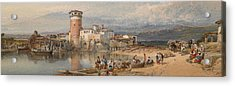 A Sicilian Village Acrylic Print by William Leighton Leitch