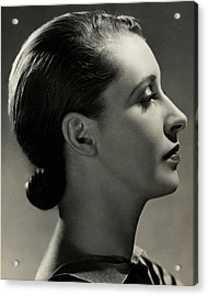 A Side View Of Marion Morehouse Acrylic Print by Nickolas Muray
