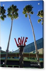 A Sign Of Love Acrylic Print by Ann Johndro-Collins