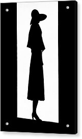 A Silhouetted Woman Acrylic Print