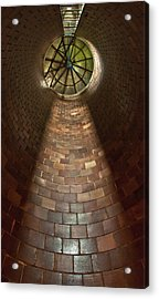 Acrylic Print featuring the photograph A Silo Of Light From Above by Jerry Cowart