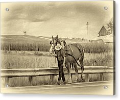 A Simple Life - Antique Sepia Acrylic Print