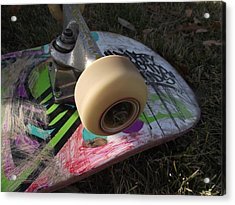 A Skateboard's True Colors Acrylic Print by James Rishel