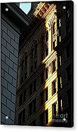 A Sliver Of Light In Manhattan Acrylic Print by James Aiken