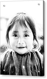 A Small Guatemalam Life - Black And White Acrylic Print by Shelby  Young