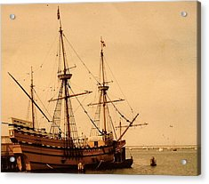 A Small Old Clipper Ship Acrylic Print