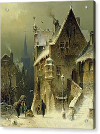 A Small Town In The Rhine Acrylic Print by August Schlieker
