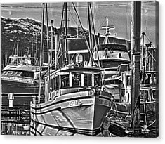 Acrylic Print featuring the photograph A Small Wooden Fishing Boat by Timothy Latta