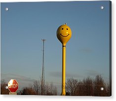 A Smile At The Crossroads. Acrylic Print