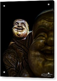 A Smile On The Shoulder Acrylic Print by Christopher Holmes