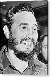 A Smiling Fidel Castro Acrylic Print