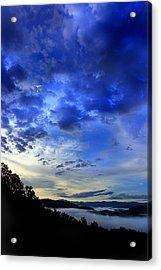 A Smoky Mountain Dawn Acrylic Print by Michael Eingle